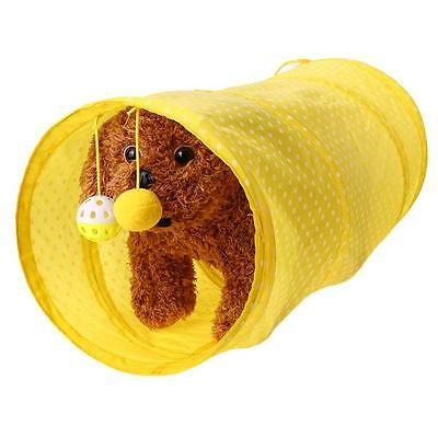 Pet Cat Tunnel Toys Outdoor Game Play Foldable Kitten Rabbit Toys With Bell Ball