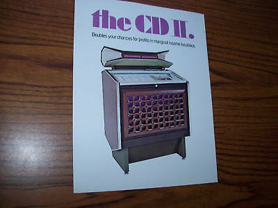 Rowe Cadette Cdii Jukebox Sales Flyer Brochure 1971