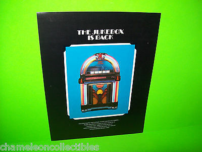 Sonata Nostalgia 1050 Jukebox Sales Flyer 1978 Made In Mexico Blue Version