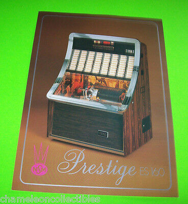 PRESTIGE ES 160 By NSM 1980 ORIGINAL JUKEBOX PHONOGRAPH PROMO SALES FLYER
