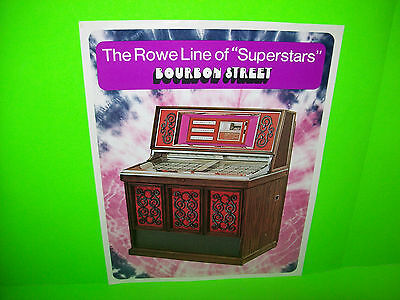 Rowe AMI Model MM-6 BOURBON STREET Superstar Original 1972 Jukebox Music FLYER