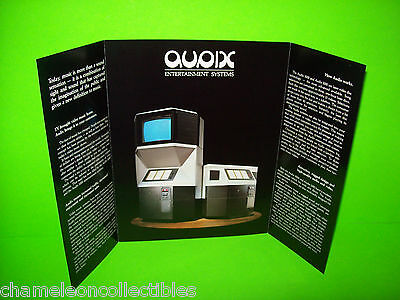 VIDEO MUSIC By AUDIX 1980s ORIGINAL JUKEBOX PHONOGRAPH MUSIC VIDEOS SALES FLYER