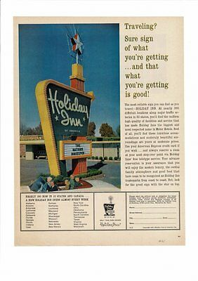 Vintage 1961 Holiday Inn Of America Travel Hotel Motel Lodging Photo Ad Print