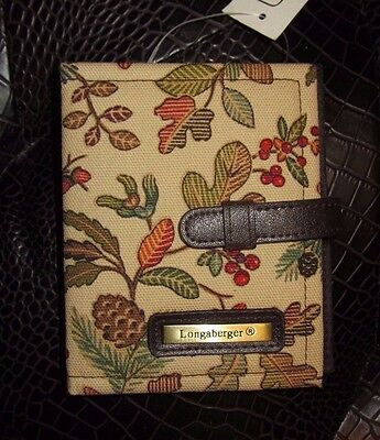 Longaberger Photo Wallet / Credit Card  & ID Holder AUTUMN PATH Fabric  NWT