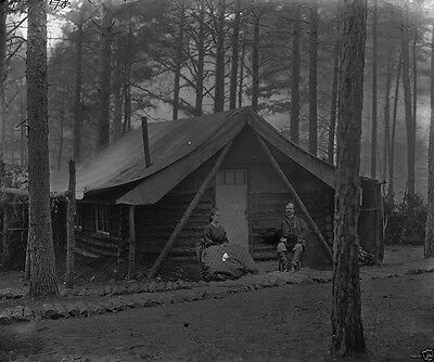 Army of the Potomac Winter Quarters Log-Cabins 1864 New 8x10 US Civil War Photo