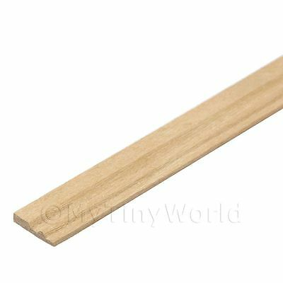 Dolls House Miniature 9mm Wood Skirting Board (style 1)