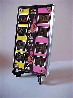 Sonny Bono and Cher GOOD TIMES 8 Frame Movie Display with zipper pouch