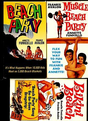 Frankie Avelon Annette Funicello BEACH PARTY Film Frame Display and 3 VHS Movies