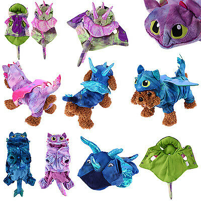 Pet Cat Dog Warm Coral Velvet Costumes  Dragon Halloween Costume Clothes Gifts