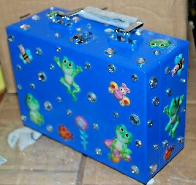 I TOAD YOU SO Frog Wood Box Purse THAT'S JUST CRAZY! Handbag USA Butterfly Swamp