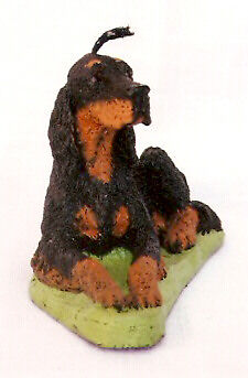 Gordon Setter Reclining Candle Wax Figurine Sculpture Statue