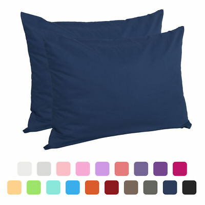Bedroom Zippered Pillow Cases Pillowcases Standard Egyptian Cotton 2-Pack