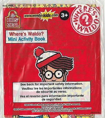 Wendy's Kid Meal Toy Where's Waldo Mini Activity Book Booklet