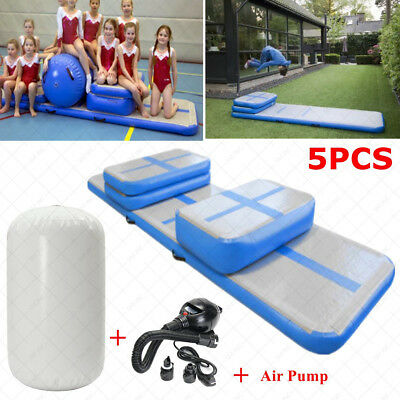 Inflatable GYM Roller Floor Home Training 5Pcs Air Track Tumbling Mat Gymnastics
