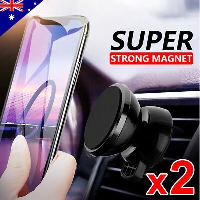 2x Universal Car Holder Mount Air Vent Magnetic for iPhone Galaxy GPS