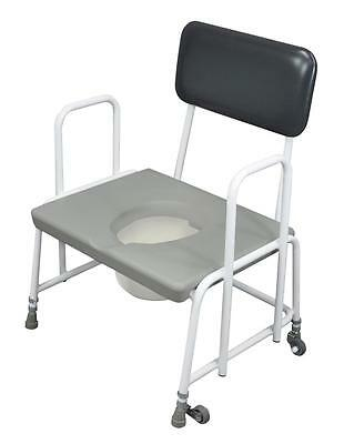 Aidapt Dorset Devon and Suffolk Height Adjustable Bariatric Commode - Fixed Arms