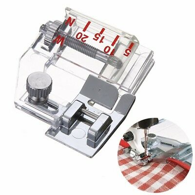 Adjustable Bias Tape Binding Foot Presser Snap On Brother Janome Sewing Machine