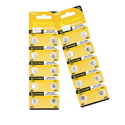 10X/set 1.5V AG3 LR41 392 SR41 192 Alkaline Button Coin Cells Watch Battery