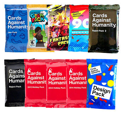 Cards Against Humanity Jew Geek Science Fantasy WWW Design Pack New Party Game