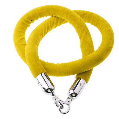 1.5m Stanchion Rope Yellow for Control Post Rope Crowd Velvet Queue Barrier