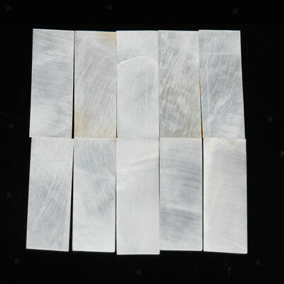 10 Inlay Material White MOP Shell Rectangle Blanks Luthier Craft 36x12x1.0mm