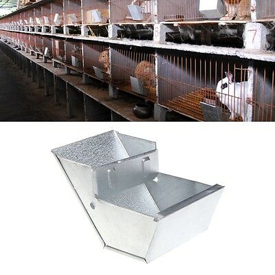 Rabbit Hutch Trough Feeder Drinker Bowl For Rabbit Farming Animal Equipment Tool