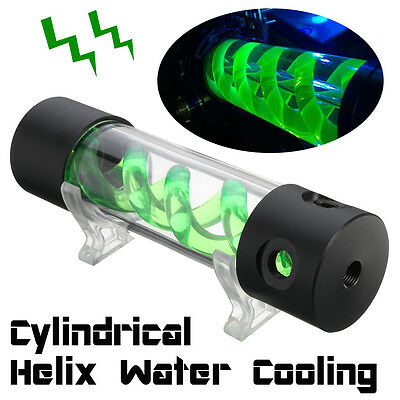 Cylinder T-Virus Double Helix Suspension Water Tank Reservoir PC Liquid Cooling