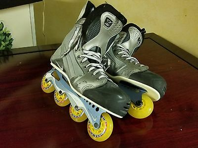 Nike Quest 3 Roller Hockey Skates Size 13D - Red Star Triton Wheels