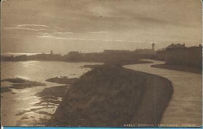 Vintage Edwards Postcard - EARLY MORNING THE ESPLANADE, DUNBAR, SCOTLAND