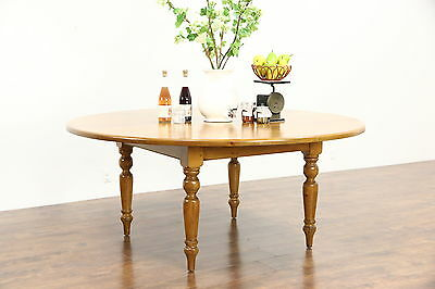 Country Pine 6' Round Antique French Farmhouse Dining Table