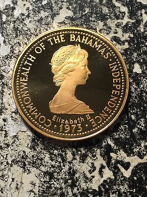 1975 Bahamas $150 Gold Proof in Original Box .24 AGW 2,770 Minted! Spiny Lobster