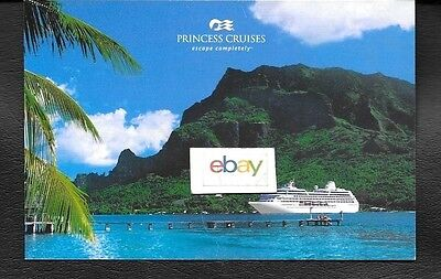 Princess Cruises Escape Completely To South Pacific & Tahiti Ship Issue Postcard