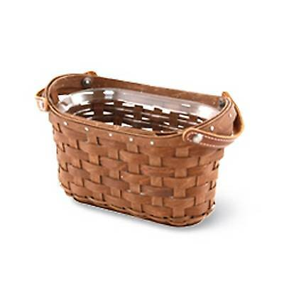 Longaberger Journal Basket & Protector  - RICH Brown -  New!!  Please Read!