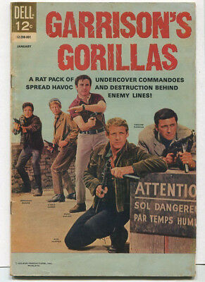 Garrison's Gorillas #1 VG  Rat Pack Of Undercover Commandoes Dell Comics  SA