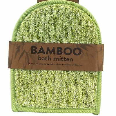 Bamboo Bath Mitten Exfoliating Loofah Beauty Massage Skin Care Glove Mit Wash