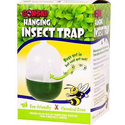Chemical Free Hanging Insect Fly Wasp Bug Mosquito Trap Killer Garden Catcher