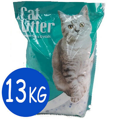 8 Month Supply 30.4 Litre 12.8KG Silica Cat Litter Pet Natural  Absortbent Kitty