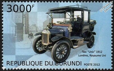 1912 UNIC London Taxi Cab (Reg: LF 5795) Car Vehicle Stamp