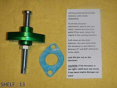 Green Cam Chain Tensioner Manual Adjuster 1989-2007 Honda Ch250 Reflex250 Ps250