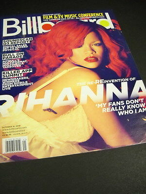 RIHANNA 2010 Billboad Magazine COVER as Promo Poster Ad no mail label MINT COND