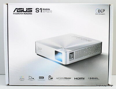 "**New Open Box** Asus S1 LED Projector/ 4.3"" x 4.0"" x 1.2"""