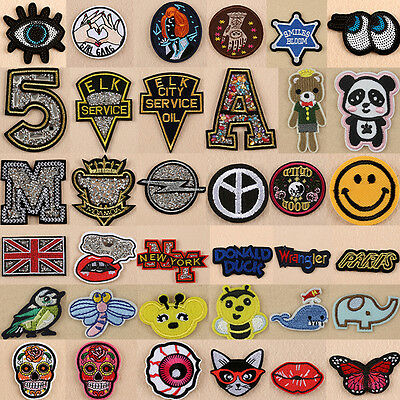 Embroidered Sew Iron On Patches Badge Fabric Bag Applique DIY Craft For Clothes