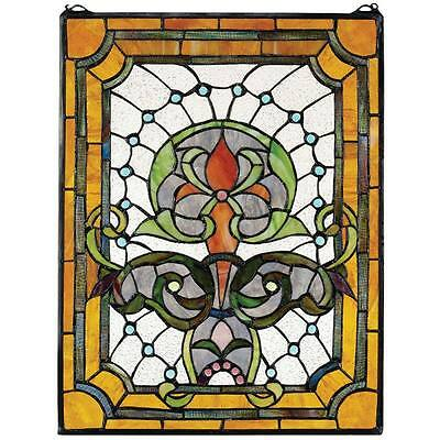 Stained Glass Suncatcher Wall Art Tiffany Glass Style Belle Epoch Inspired Decor
