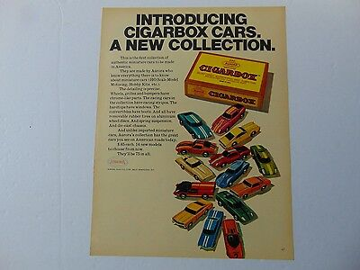 1968-AURORA CIGARBOX CARS A NEW COLLECTION  print ad -422