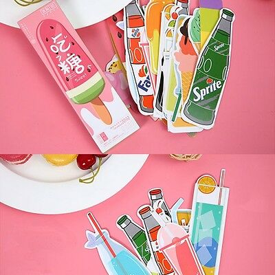30pcs Cute Candy Bookmarks Paper Clip Office School Supply Stationery Funny Gift