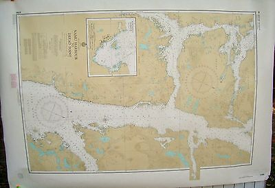Canada BC Nautical Map Chart #3785 Namu Harbour to Dryad Point July 1981
