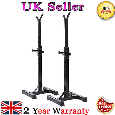 UK-Training Height Gym Squat Barbell Rack Holder Stand Press Weight Bench Sports