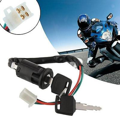Universal Motorcycle Scooter 4 Pin Ignition Switch With Key Suitable Fr Honda YJ