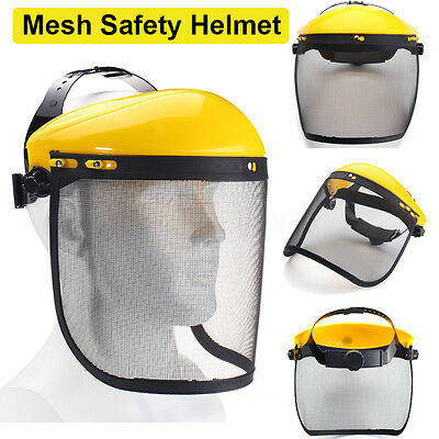 Mesh Safety Visor Full Face Shield Eye Protection Shredder Outdoor Garden Helmet