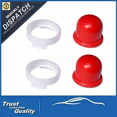 2x Red Carburettor Oil Primer Bulb Cup Pump For Briggs & Stratton 694394, 494408
